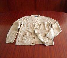 New Polo Ralph Lauren Men's Linen & Cotton Knitted Cardigan Camel Brown M