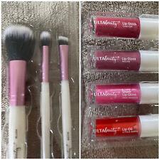 Ulta Beauty Make Up Brush And Lip Gloss Set Brand New