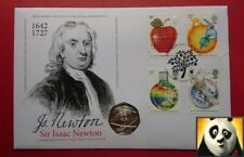 2017 SCARCE 50p Fifty Pence Sir Isaac Newton Coin Cover PNC Ltd Edition of 495!
