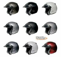 SHOEI RJ PLATINUM-R Helmet -ALL SIZES/COLORS- Solids/Matts- DOT/SNELL