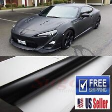 "72""x60"" Premium Matte Flat Black Vinyl Film Wrap DIY Decal Sticker 6FTx5FT"