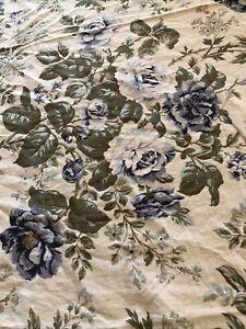 "Waterford Jaden Blue Floral Rectangle Tablecloth 56""x 96"" Lightweight Cotton EUC"
