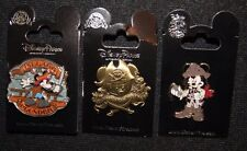 Disney Mickey Pirate's Life For Me  Jack Sparrow Pillage Plunder 3 Pin Set
