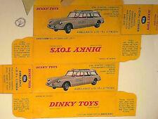 Ambulances miniatures Dinky