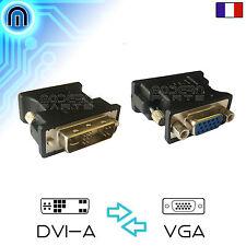 Adaptateur Convertisseur de prise DVI-A vers VGA Pour cable écran carte Analog