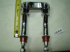 Harley chrome pullback handlebar risers + top clamp Softail FXR Dyna XL EPS17702