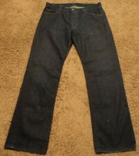"""Ralph Lauren Polo """"MERCER LOW RISE"""" Denim Blue Jeans Size 34x32 Actual = 36x32"""