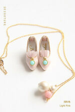 B124 Light Pink Rococo Shoes for Blythe, Pullip, Azone, Poppy Parker, Momoko