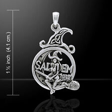 Salem Witch Crescent Moon .925 Sterling Silver Pendant Peter Stone