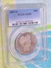 1897 Barber Silver Half Dollar PCGS AG03   **Key Date**   FREE US SHIPPING !!!