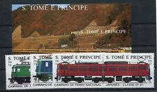 Sao Tome 1049/54 Block 179 postfrisch / Eisenbahn ........................2/2406