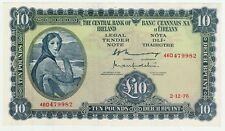 Ireland 10 Pounds Lady Lavery 1976 UNC Pick 66d