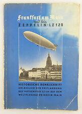 Buch: Zeppelin Frankfurt am Main und fein LZ 129 Historische Denkschrift e547