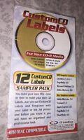 12 Custom CD Labels Gold & White