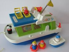Vintage Fisher Price Little people Happy Houseboat 1972