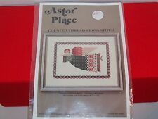 ASTOR PLACE GREEN TAPESTRY ANGEL COUNTED CROSS STITCH GRAPH ONLY HS35 Primitive