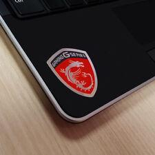 MSI Gaming Series Sticker - 40mm x 32mm Chrome Logo Case Badge