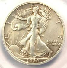 1920-D Walking Liberty Half Dollar 50C - ANACS VF30 Details - Rare Date Coin!