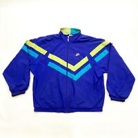 Nike Full Tracksuit Top & Bottoms | Vintage 90s Retro Sportswear Large Blue VTG