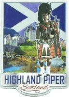 Scottish Fridge Magnet Scotland Highland Piper Saltire Bagpiper Souvenir Gift