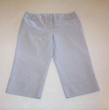 Junior Women's Joe Benbasset Low-Rise Gray Striped Capri Pants 5