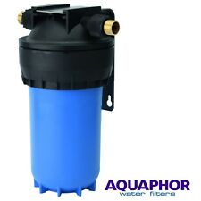 """AQUAPHOR GROSS MIDI 10"""" BIG BLUE WATER PRE FILTER WHOLE HOUSE Bracket and Wrench"""