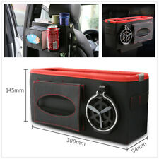 Traveling Storage Box Car Back Seat Organizer For Water Cup Drink Food Holder