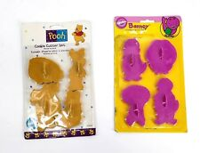 Vintage WILTON Barney 1993 Pooh Cookie Cutter Set