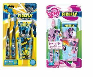 Children kids Toothbrush Little Pony Batman Girls Boys Dental value Pack