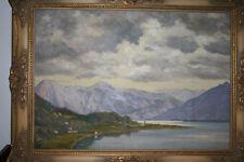 Großes ALFRED SOUCI *1879 MÜNCHEN SCHWABING ÖLGEMÄLDE ANTIK ÖLBild 84 x 66 cm