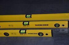 Wasserwaage 40cm 60cm 100cm Alu Wasserwaagen 3er Set je 3 Libellen Workzone