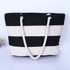 Ladies Canvas Beach Shoulder Bag Summer Shopping Tote Satchel Large Capacity New