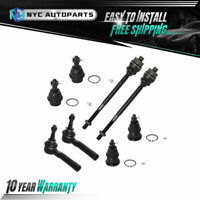 8 Front Inner Outer Tie Rod Link+Ball Joints for 01-06 Silverado Sierra 1500 4WD