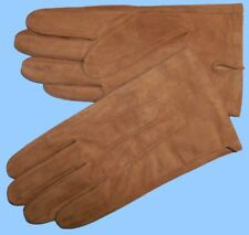 NEW MENS size 9 or Large TAN-LION BROWN SUEDE UNLINED LEATHER GLOVES shade 10514