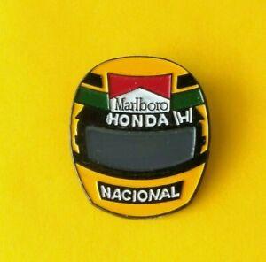 Pin's lapel pin pins F1 FORMULE 1  AYRTON SENNA  MARLBORO  CASQUE