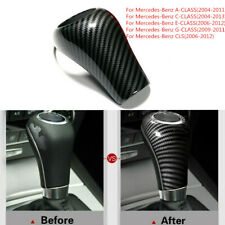 Carbon Fiber Gear Shift Knob Cover For Mercedes-Benz W204 W212 C E A G GLS Class
