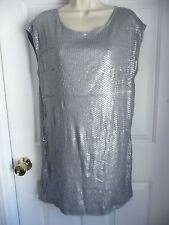 BCBG Max Azria S Dress Tunic NEW Mini Silver SEQUIN PARTY RED CARPET ART DECO