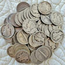 Mercury Dimes Assorted Date Roll of At Least Fifty (50) 90% Silver Coins