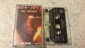 BON JOVI - 7800° FAHRENHEIT CASSETTE 1985 PLAY TESTED !