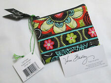 Vera Bradley FLOWER SHOWER Coin Purse COSMETIC Case CHANGE Lipstick For TOTE NWT