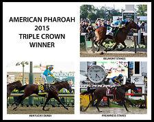 AMERICAN PHAROAH, 2015 Triple Crown Winner, 8x10 Color Photo