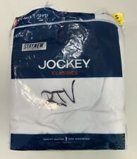 Jockey Classic V-Neck T shirts White 4-pack Tag Free Cotton SMALL 34-36 OPEN NEW