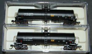 2-N scale Atlas 17,360 Gal. Tank car ACFX-(Olin Chemical) car #'s 77374 & 77413