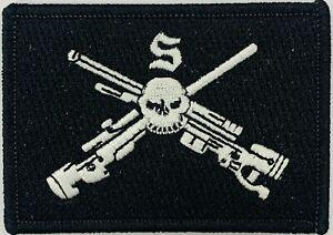 6RAR Sniper Cell Unit Patch on Black background