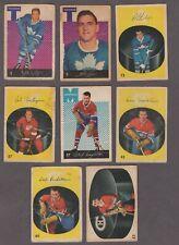 1962-63 Parkhurst Original Hockey Cards Lot of 8