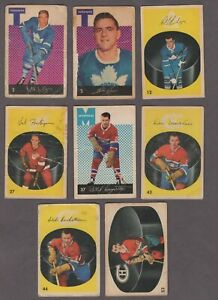 1962-63 Parkhurst Original Hockey Cards Lot of 8