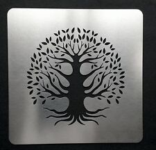 Tree of Life Stainless Steel Metal Stencil Template Embossing 7.5cm x 7.5cm