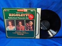 Richard Bonynge LP Rigoletto London OS 26401 Pavarotti NM-
