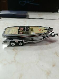 """Vintage Dale Earnhardt 3 Bass Boat Nitro With Trailer 7"""" Long Goodwrench NASCAR"""