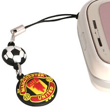 Manchester United Football Club Official Soccer Gift Rubber Crest Phone Charm